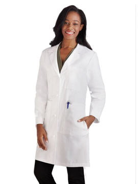 "Picture of META Classic Women's 38"" Knot Button iPad® Pocket Lab Coat"