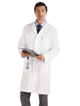 "Picture of META Classic Men's 40"" Knot Button iPad® Pocket Lab Coat"