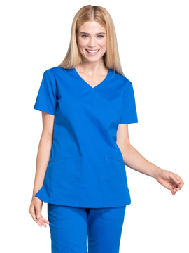 Picture of Cherokee Workwear Professionals Women's Mock Wrap Top