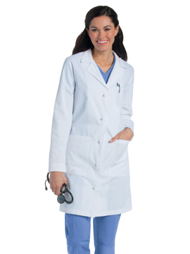 Picture of Landau Women's Knot Button Lab Coat