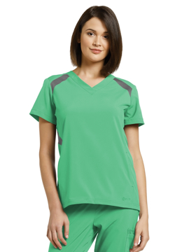 Picture of White Cross Fit Women's Sporty V-Neck Top