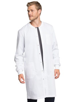 "Picture of Cherokee Workwear Revolution Tech Unisex 40"" Snap Front Lab Coat"