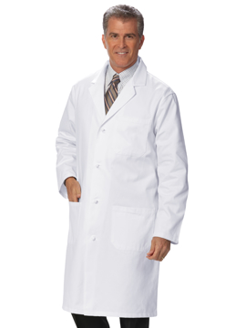 """Picture of Fashion Seal Men's 41"""" Knot Button Knee Length Lab Coat"""