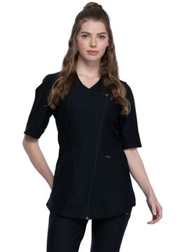 Picture of Cherokee Form Women's Asymmetrical Zip Front Tunic