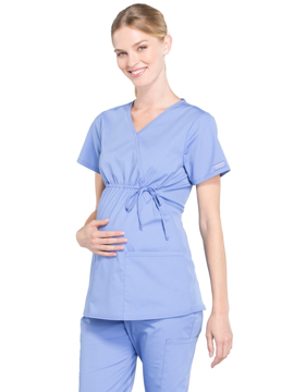 Picture of Cherokee Workwear Professionals Women's Maternity Mock Wrap Top