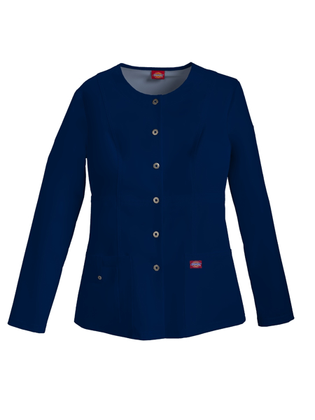 Picture of Dickies Xtreme Stretch Women's Snap Front Warm-Up Jacket