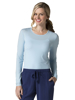 Picture of Maevn Knit Women's Long Sleeve Antimicrobial Under Scrub Striped Tee