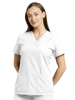 Picture of White Cross Fit V-Neck Top