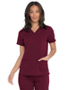 Picture of Dickies Balance Women's V-Neck Top with Rib-Knit Panels