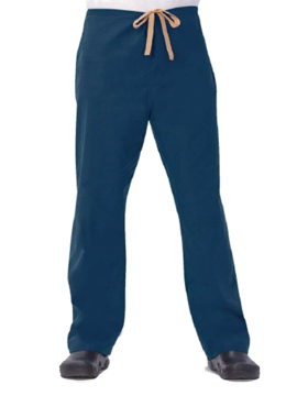 Picture of Fashion Seal Unisex 100% Cotton Drawcord Scrub Pants - Navy