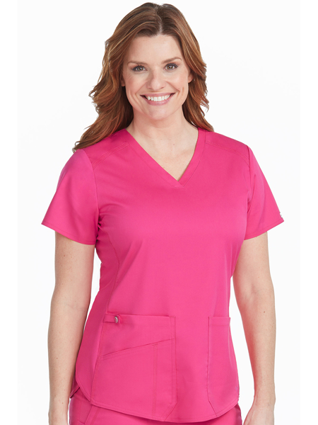 Picture of Med Couture Touch Women's V-Neck Shrittail Top
