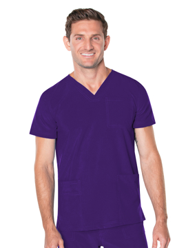 Picture of Landau Proflex Men's V-Neck 4-Pocket Top