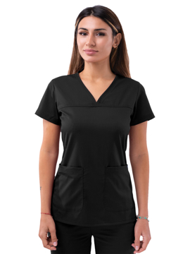 Picture of Adar Pro Women's Sweetheart V-neck Scrub Top