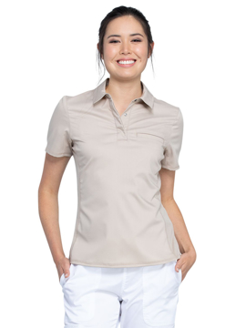 Picture of Cherokee Workwear Revolution Ladies Snap Front Polo Shirt