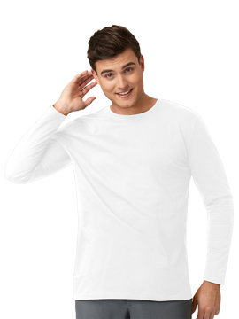 Picture of WonderWink Layers Men's Crew Neck Long Sleeve Tee