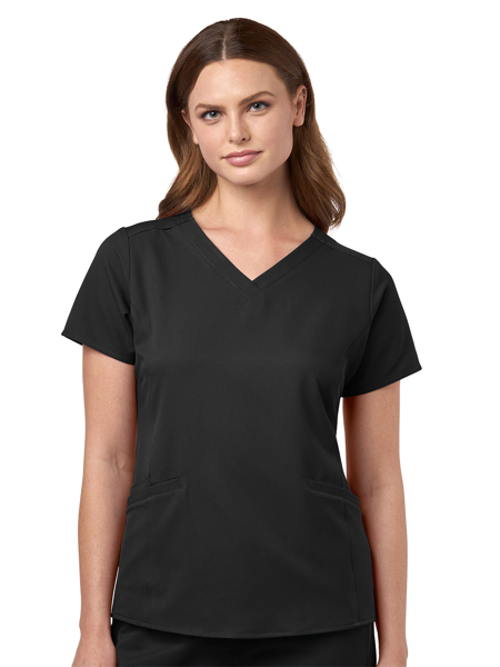 Picture of WonderWink Ultra Women's Curved V-Neck Top