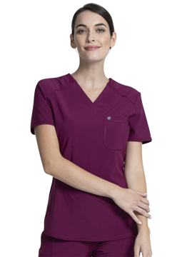 Picture of Cherokee Infinity Women's V-Neck Chest Pocket Top