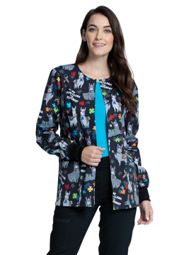 Picture of Cherokee Genuine Women's Snap Front Warm-up Jacket