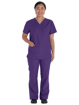 Picture of Vital Threads Unisex V-Neck Top and Drawstring Pant Set