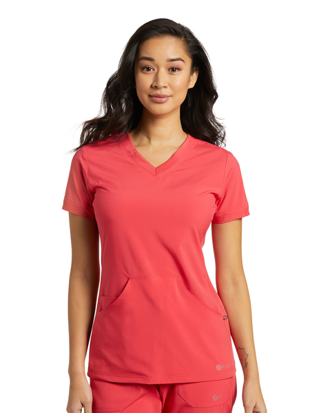 Picture of White Cross Fit Women's Athletic V-Neck Top