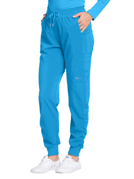 Picture of White Cross Fit Women's Jogger Fit Ruching Pant