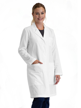"""Picture of Barco Essentials Women's Caring Three Pocket 34"""" Lab Coat"""