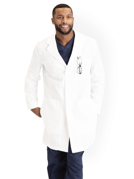 "Picture of Barco Essentials Unisex Dream Three Pocket 38"" Lab Coat"