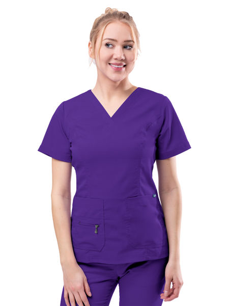 Picture of Adar Pro Women's Elevated V-Neck Scrub Top