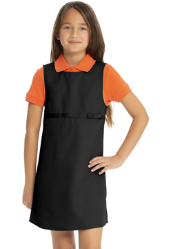 Picture of Real School Uniforms Youth Plus Empire Waist Jumper w/Ribbon Bow