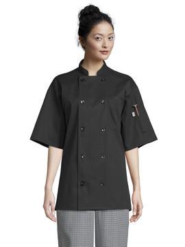 Picture of Uncommon Threads Unisex South Beach Chef Coat - Black